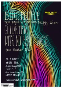 Bird People and Guitar Trio with No Fancy Name, Aug 9 2015. Poster: Alex Duma